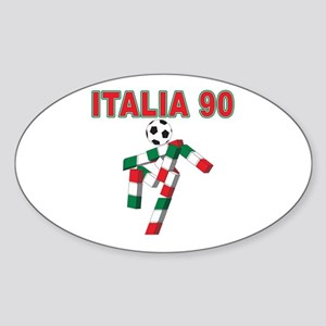 Retro 1990 Italia world cup Oval Sticker