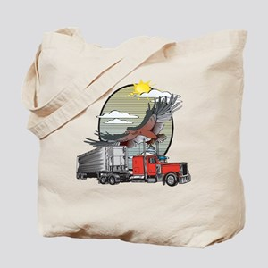 Truck Driver Eagle Tote Bag