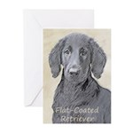 Flat-Coated Retriever Greeting Cards (Pk of 20)