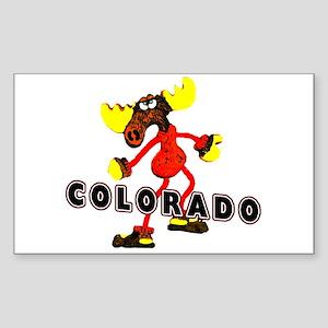 Colorado Moose Sticker (Rectangle)