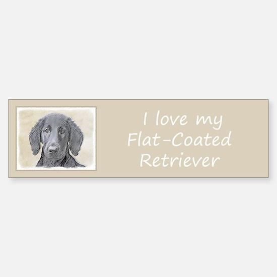 Flat-Coated Retriever Sticker (Bumper)