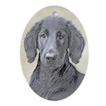 Flat-Coated Retriever Oval Ornament