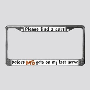 Last Nerve License Plate Frame
