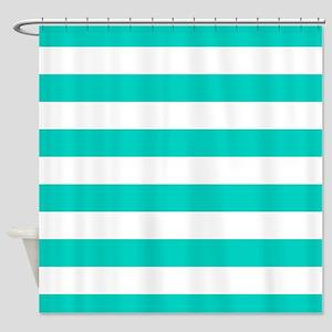 teal striped shower curtain. Aqua Blue Horizontal Stripes Shower Curtain Teal Striped Curtains  CafePress