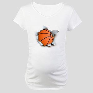 Basketball Burster Maternity T-Shirt