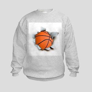 Basketball Burster Kids Sweatshirt