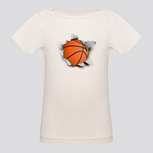 Basketball Burster Organic Baby T-Shirt