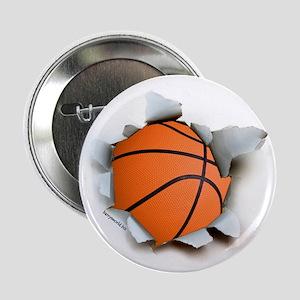 "Basketball Burster 2.25"" Button (10 pack)"