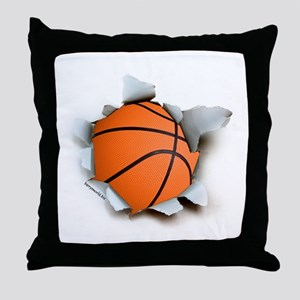 Basketball Burster Throw Pillow