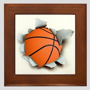 Basketball Burster Framed Tile