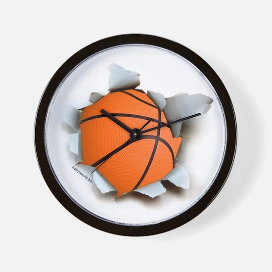 Basketball Burster Wall Clock