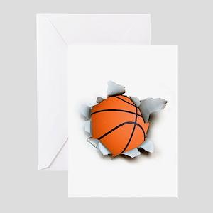 Basketball Burster Greeting Cards (Pk of 20)