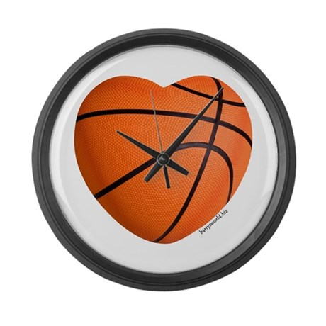 Basketball Love Large Wall Clock