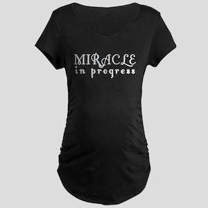 Miracle in Progress Maternity Dark T-Shirt
