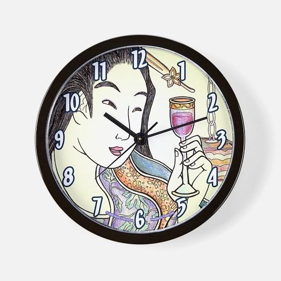 """Japanese Woman """"Budoushu"""" - Wall Clock"""