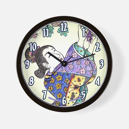 """Japanese Woman """"Budogari"""" - Wall Clock"""