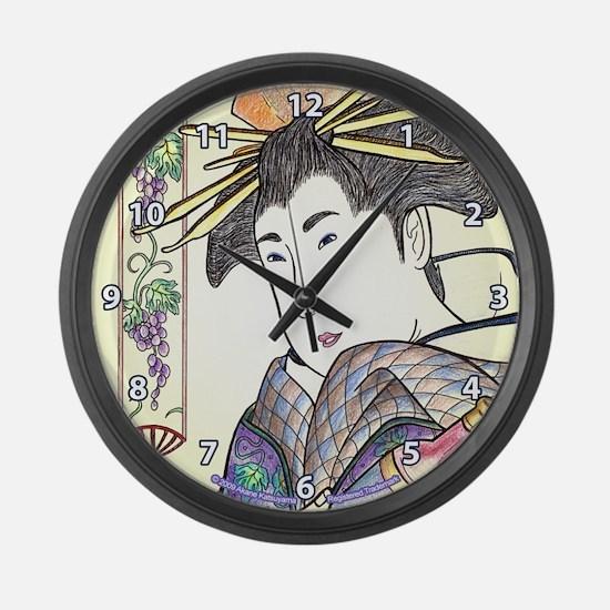 "Japanese Woman ""Binbudo"" - Large Wall Cl"