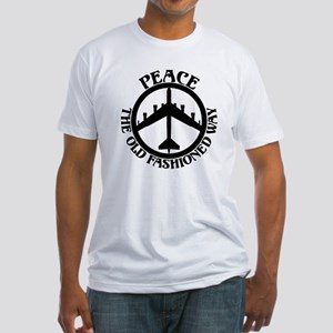 B-52 Peace the Old Fashioned Way Fitted T-Shirt