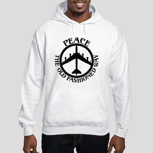 B-52 Peace the Old Fashioned Way Hooded Sweatshirt