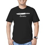 Bowie Knife Men's Fitted T-Shirt (dark)
