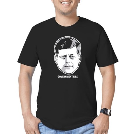 JFK Government Lies Men's Fitted T-Shirt (dark)
