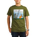 Ladder Lashing Organic Men's T-Shirt (dark)