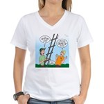 Ladder Lashing Women's V-Neck T-Shirt
