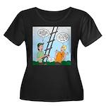 Ladder L Women's Plus Size Scoop Neck Dark T-Shirt