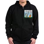 Ladder Lashing Zip Hoodie (dark)