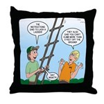 Ladder Lashing Throw Pillow