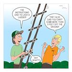 Ladder Lashing Square Car Magnet 3