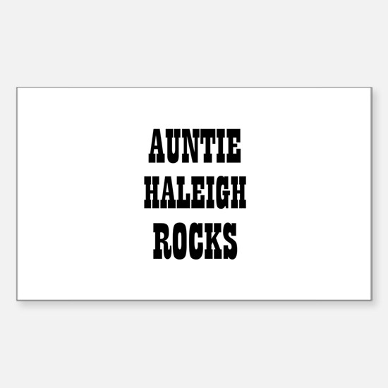 AUNTIE HALEIGH ROCKS Rectangle Decal
