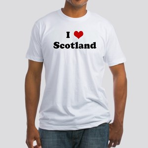 I Love Scotland Fitted T-Shirt