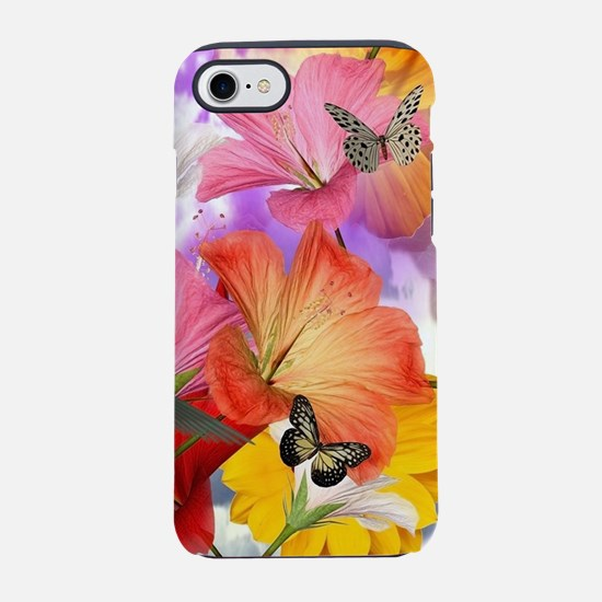 Hibiscus Butterflies iPhone 7 Tough Case