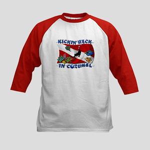 Generic Dive Flag Pocket Kids Baseball Jersey
