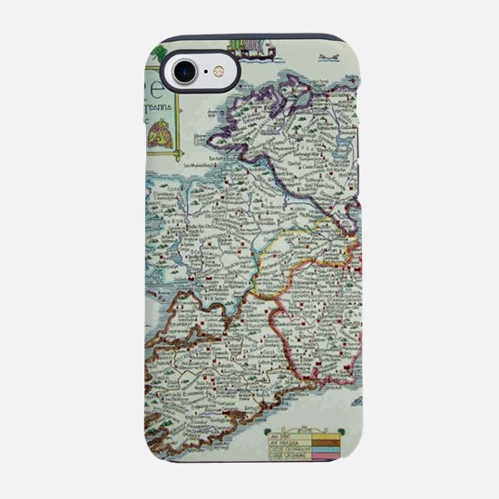 Ireland Map - Irish Eire Erin  iPhone 7 Tough Case