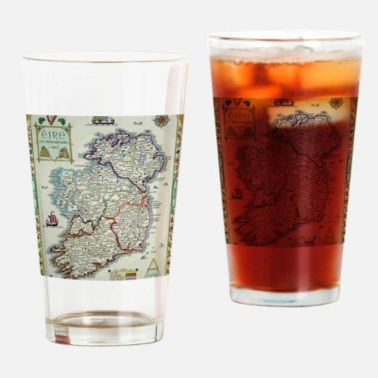 Cute Ireland Drinking Glass