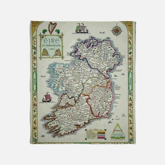 Cool Ireland Throw Blanket