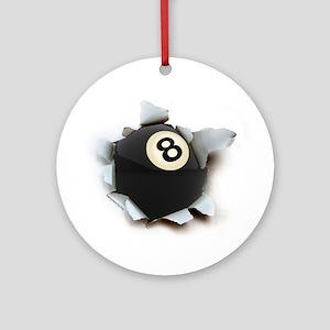 Billiards Burster Ornament (Round)