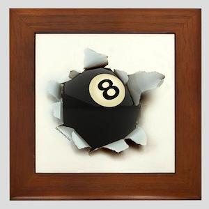 Billiards Burster Framed Tile
