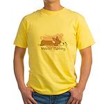 Wishful Kawaii Corgi Yellow T-Shirt