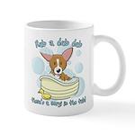 Bathtime Corgi Mug
