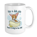 Bathtime Corgi Large Mug