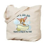 Bathtime Corgi Tote Bag