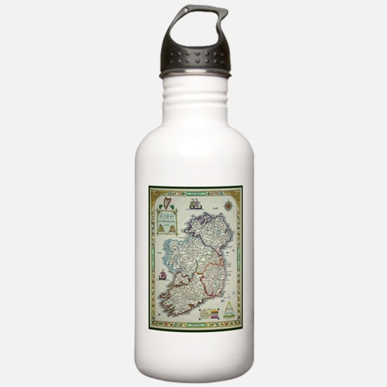 Ireland Map - Irish Ei Sports Water Bottle