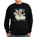 Bathtime Corgi Sweatshirt (dark)