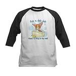 Bathtime Corgi Kids Baseball Jersey