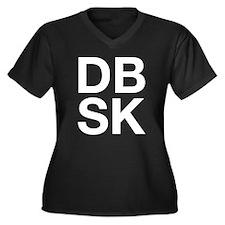 DBSK (W) Women's Plus Size V-Neck Dark T-Shirt