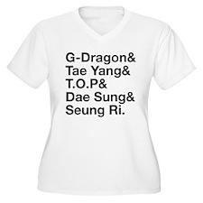 Big Bang (B) Women's Plus Size V-Neck T-Shirt