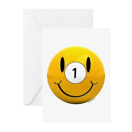 Pool Smiley Greeting Cards (Pk of 10)